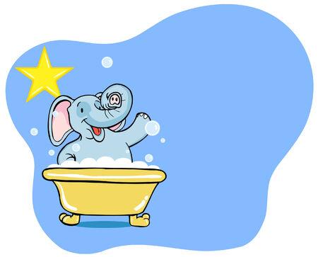 grooming: Elephant Bath