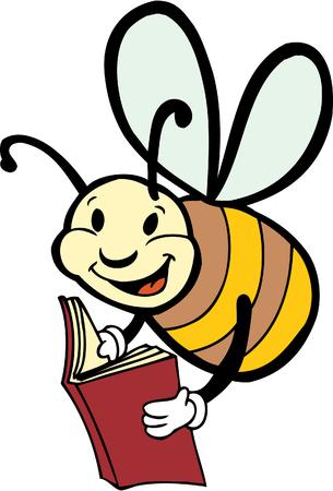 reading bee Illustration