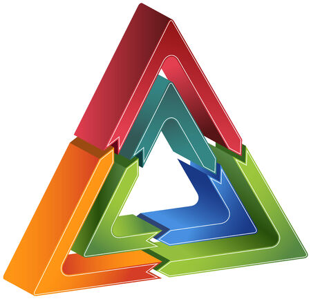 Triangle Diagram Icon Stock fotó - 5358961