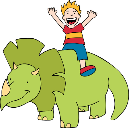 Triceratops Ride Stock Vector - 5358965