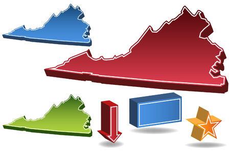 virginia: Virginia State Illustration