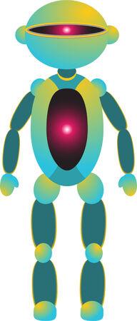 cyclops: Cyclops Robot Illustration