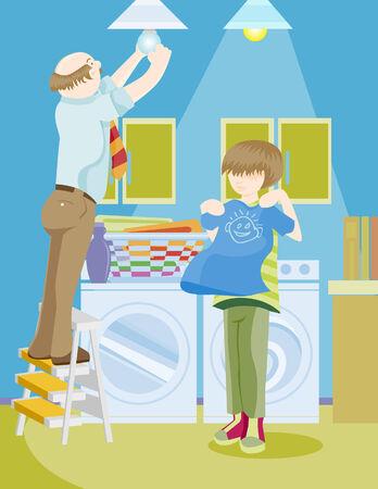 chores Stock Vector - 5358996