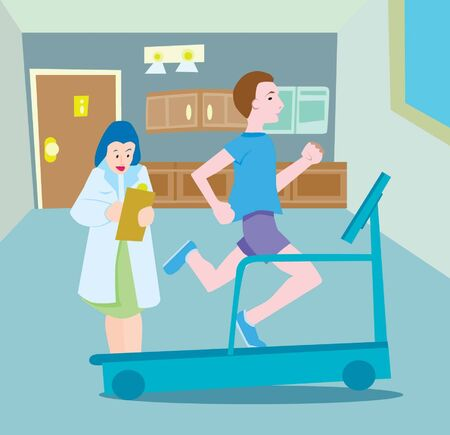 treadmill test Ilustrace