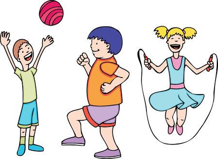play children Stock Vector - 5359001
