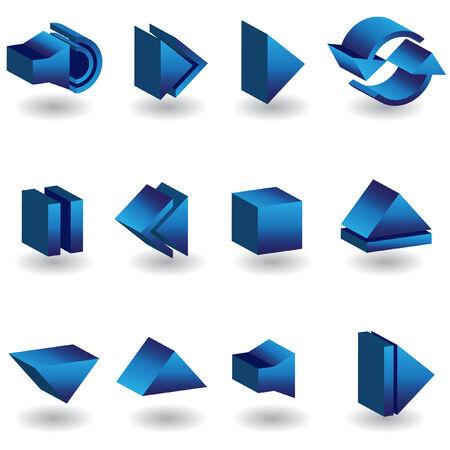 Media Player 3D Icons Çizim