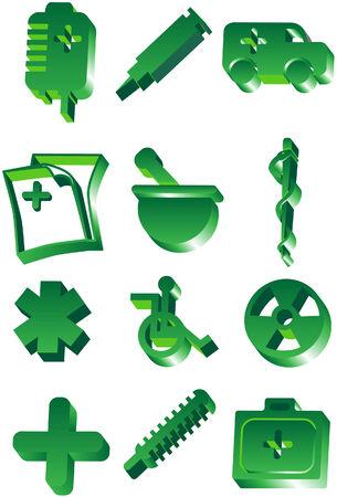 Medical 3D Icon Set