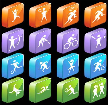 web icons: sports set