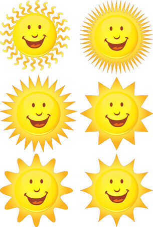 smiling sun set Stock Vector - 5359027