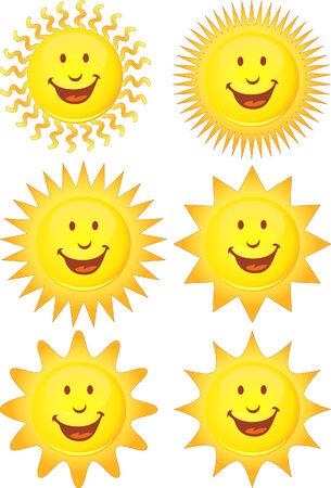 sun: smiling sun set