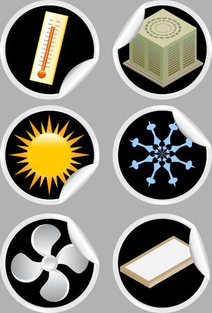 air conditioner: air conditioner sticker Illustration