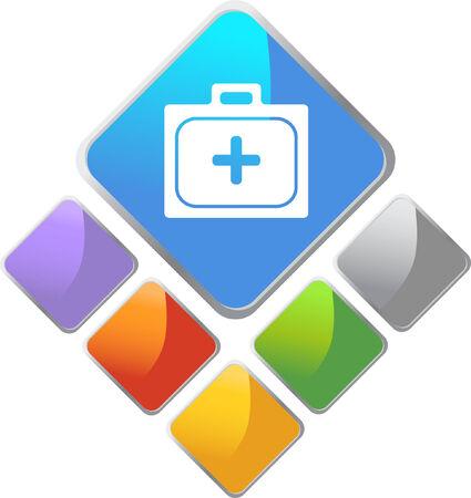 Icône de Kit Diamond de premiers soins  Banque d'images - 5359011