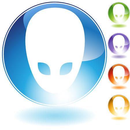 Alien Icon Stock Vector - 5359012