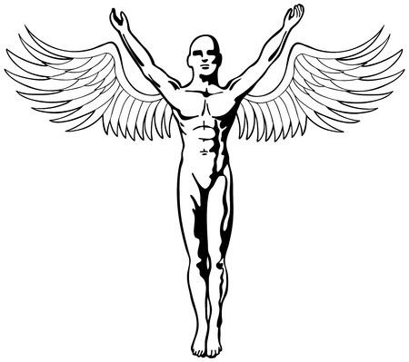 wing figure: angel figure