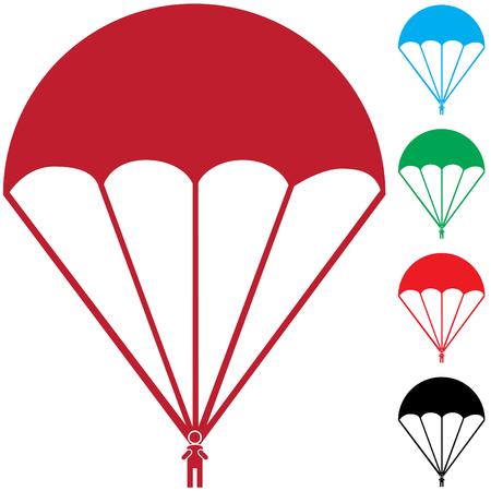 parachute icon 向量圖像