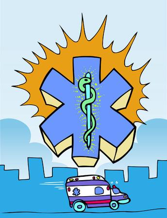 paramedic cartoon Ilustração