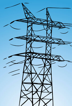 electrical tower: Torre el�ctrica Vectores