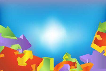 arrow background Иллюстрация