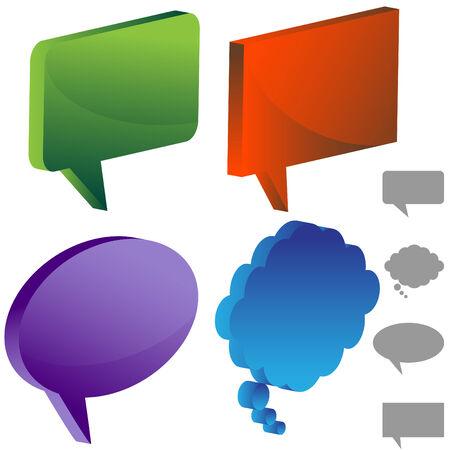 discussion forum:   blank comic book bubbles Illustration