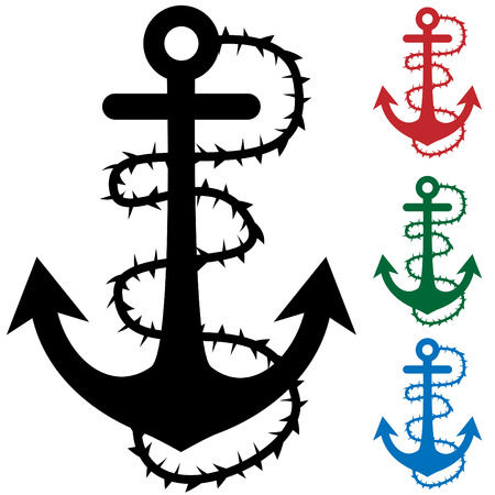 roped:  thorn roped anchor