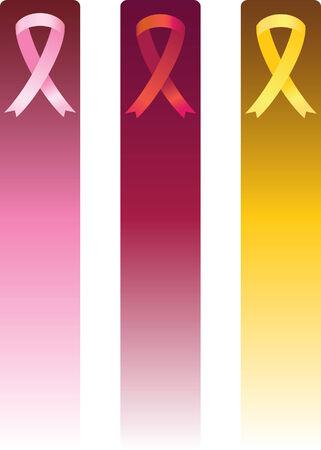 vertical ribbon banner