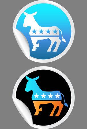 democrat: democrat sticker