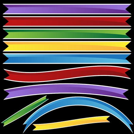 ribbons: ribbon banner set