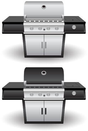 Barbecue Grill Set  イラスト・ベクター素材