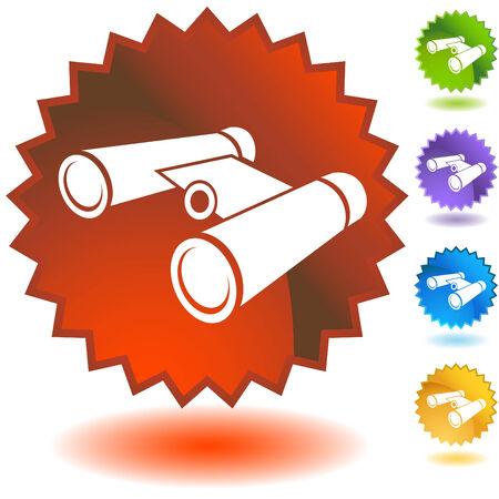 binoculars badge