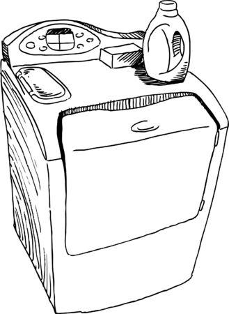 drawing: Washing Machine Drawing Illustration