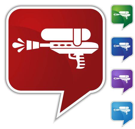 watergun: water gun icon bubble