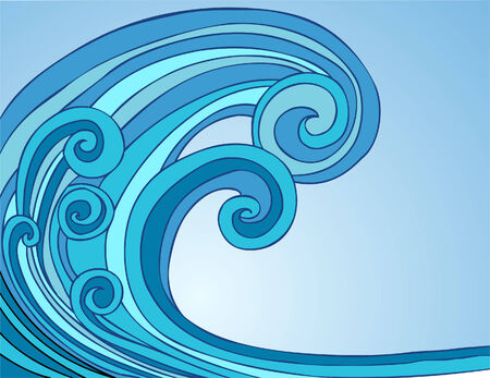 waves: Blue Tsunami Wave Two Illustration