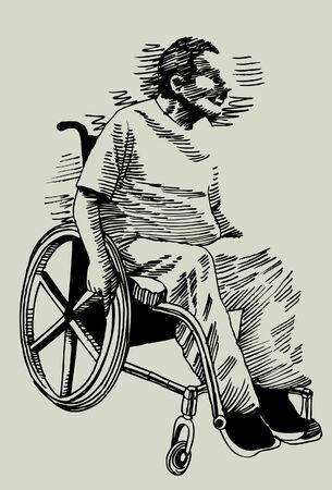 Disabled Man Banque d'images - 5391107