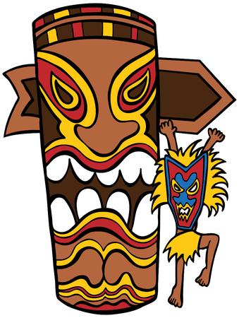 carve: Bruja doctor Tiki Idol