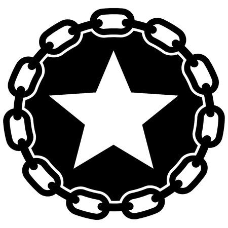cadenas: con la cadena de estrellas Vectores