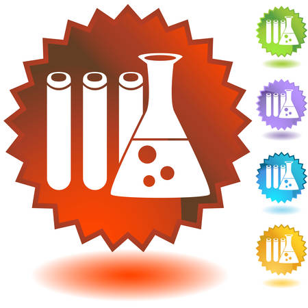 education badge science Stock Vector - 5398929