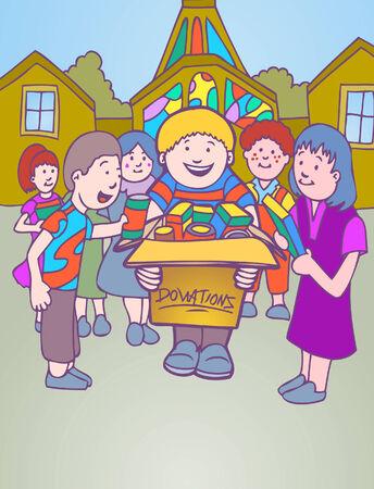 kerkelijke schenking Stock Illustratie