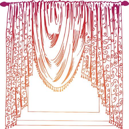 Arrière-plan de draperie Banque d'images - 5399028