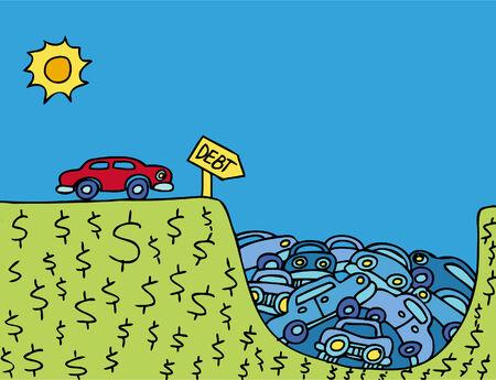 Car Debt Vector