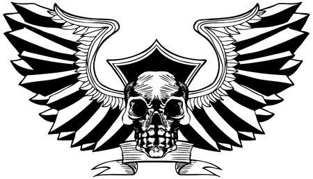 Eagle Wing Skull