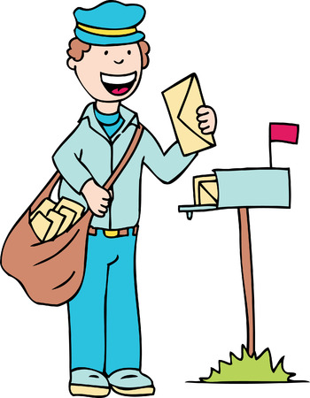 mail man Stock Vector - 5416115