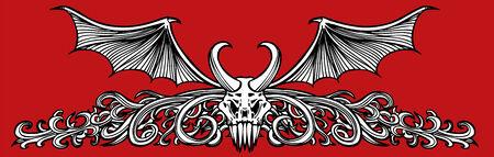 Winged Skull Demon Stock Vector - 5416128