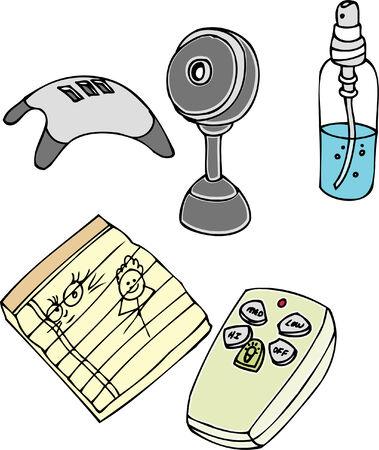objects: Desk Objects Illustration