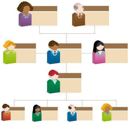 organizational chart: Organizational People Box Chart