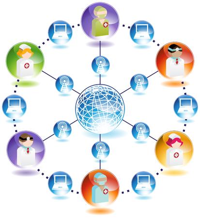 wireless network: Red de m�dicos de Internet inal�mbrica
