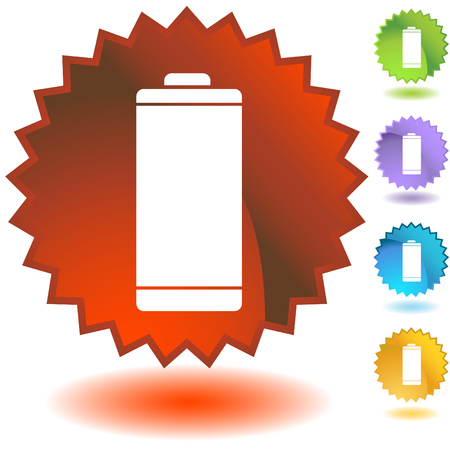 energy badge battery Stock Vector - 5416148