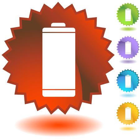 energy badge battery Stock Vector - 5416148