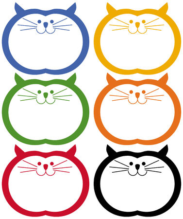 Fat Cat Icon Set