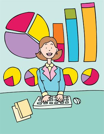 financial occupation: accountant Illustration
