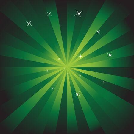 Achtergrond met groene energie  Stock Illustratie